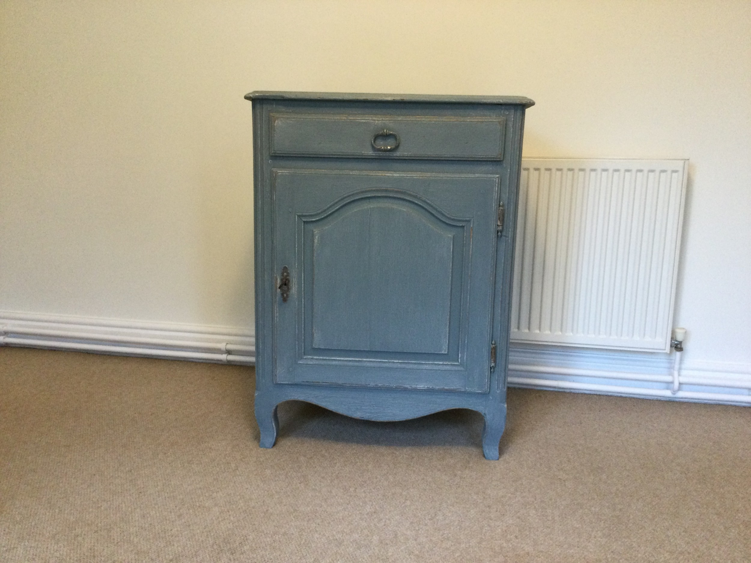 french painted floor standing cupboard