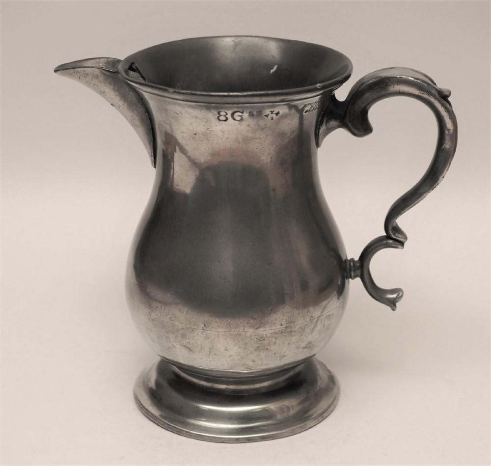 antique scottish pewter 1 quart spouted measure r galbraith 182972