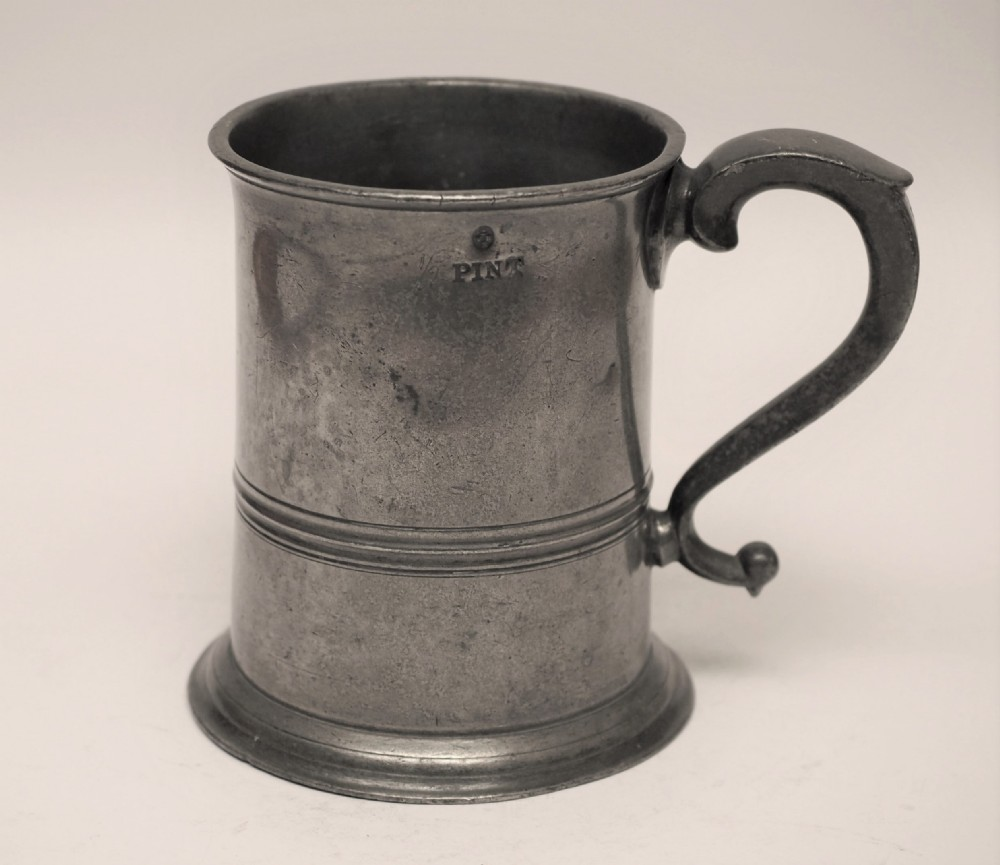 antique scottish pewter 1 pint measure by j moyes edinburgh 1851 1891