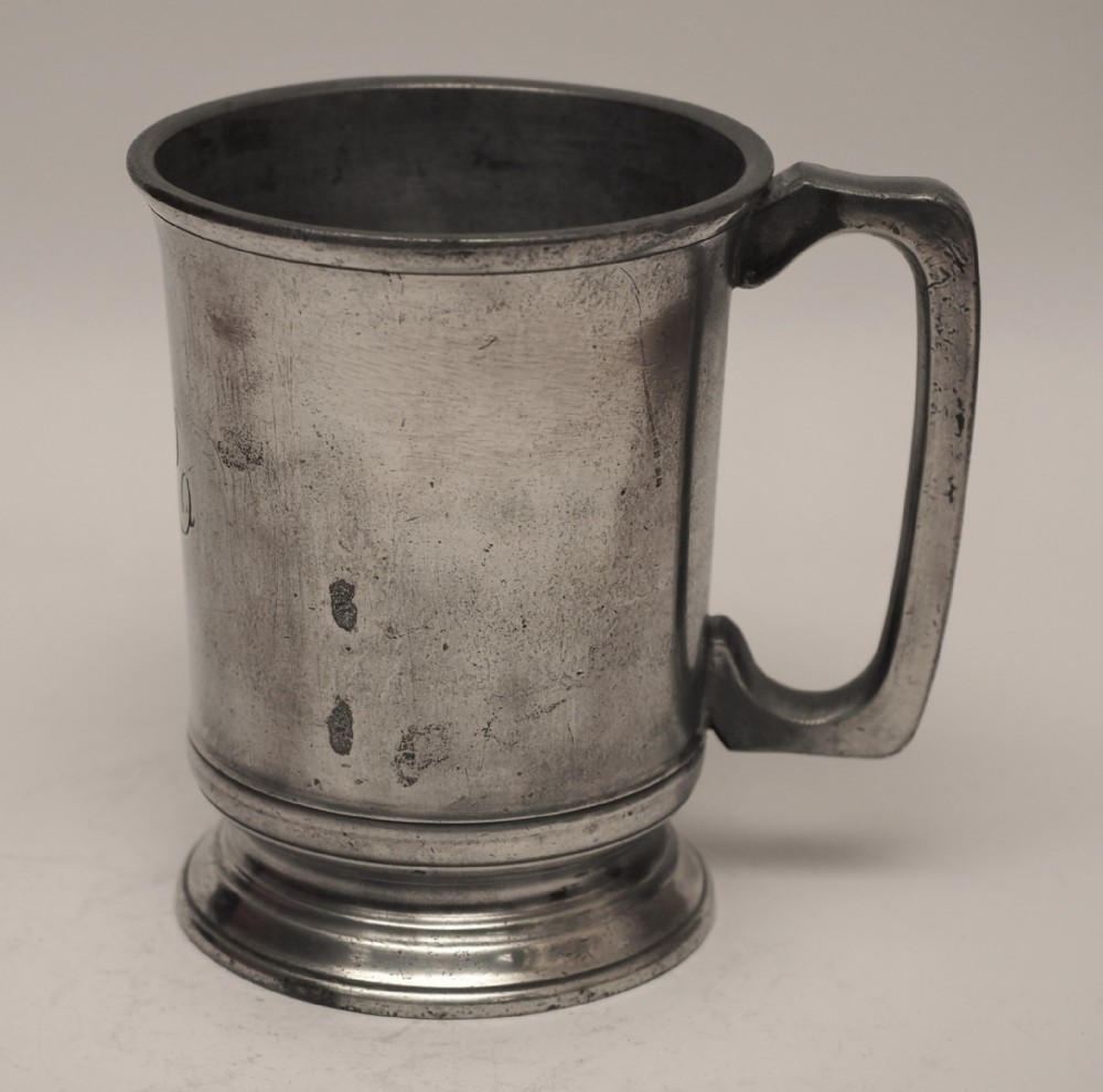 antique english pewter 1 pint measure lord high admiral circa 1890