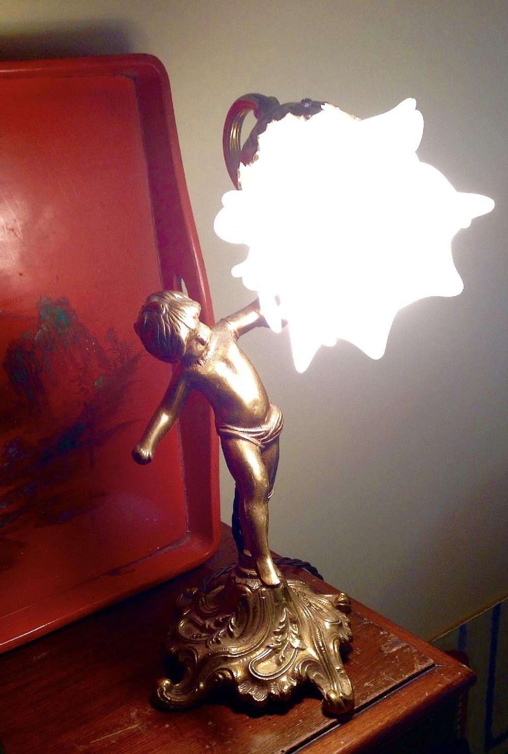 19th Century Cherub Table Lamp Bronze 506556 Sellingantiques Co Uk