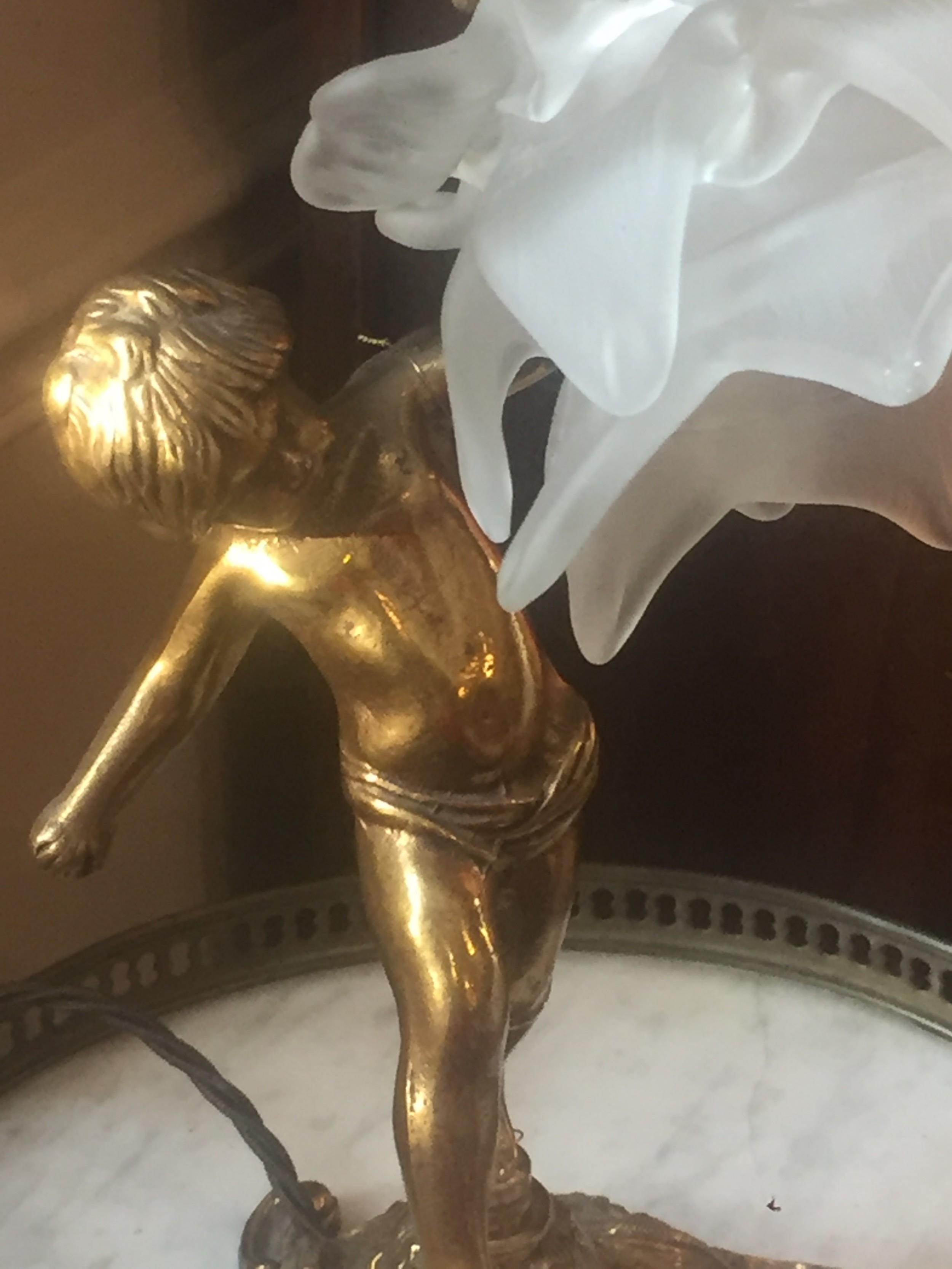 Picture of: 19th Century Cherub Table Lamp Bronze 506556 Sellingantiques Co Uk