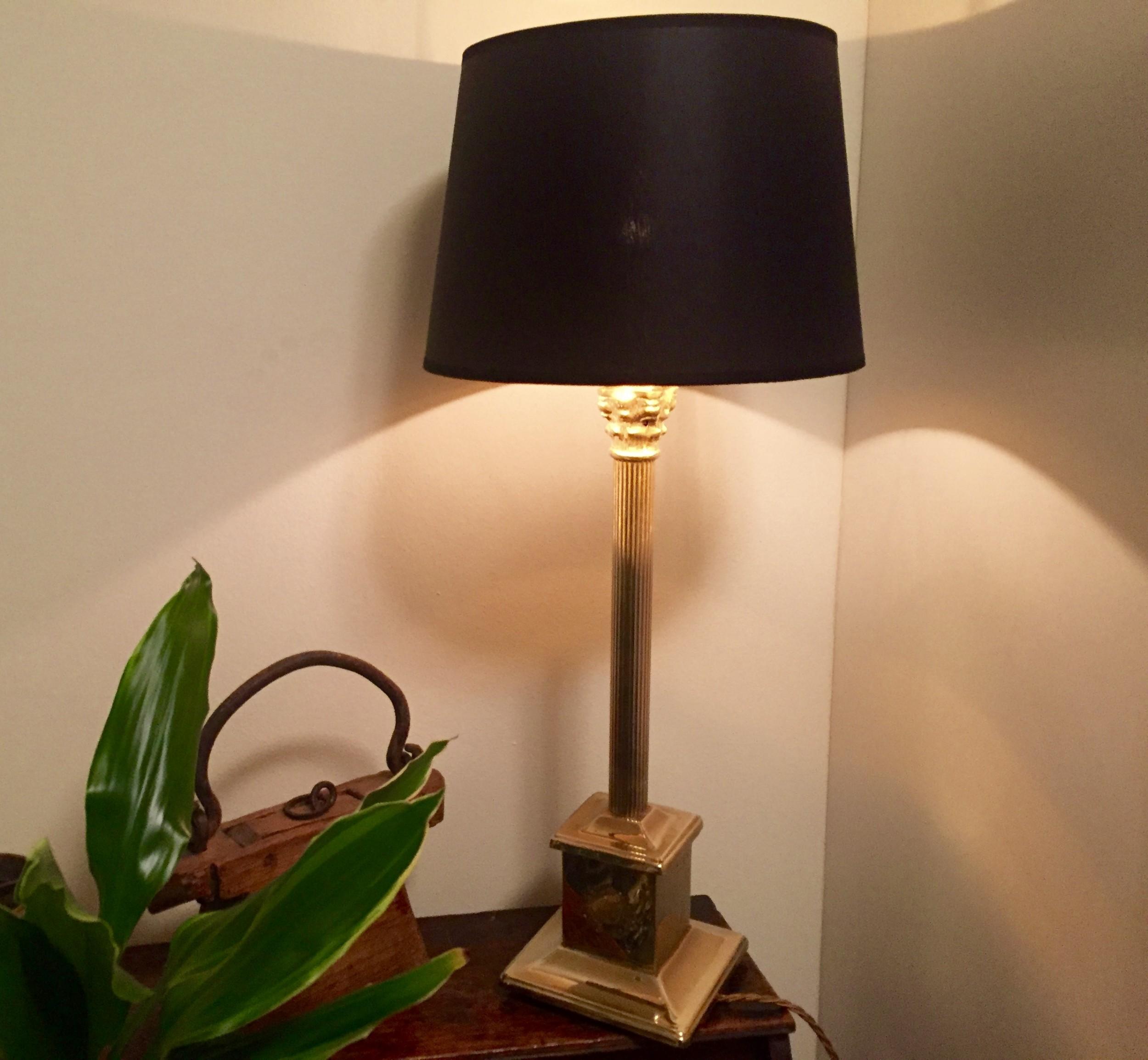 classic edwardian obelisk desk lamp solid brass