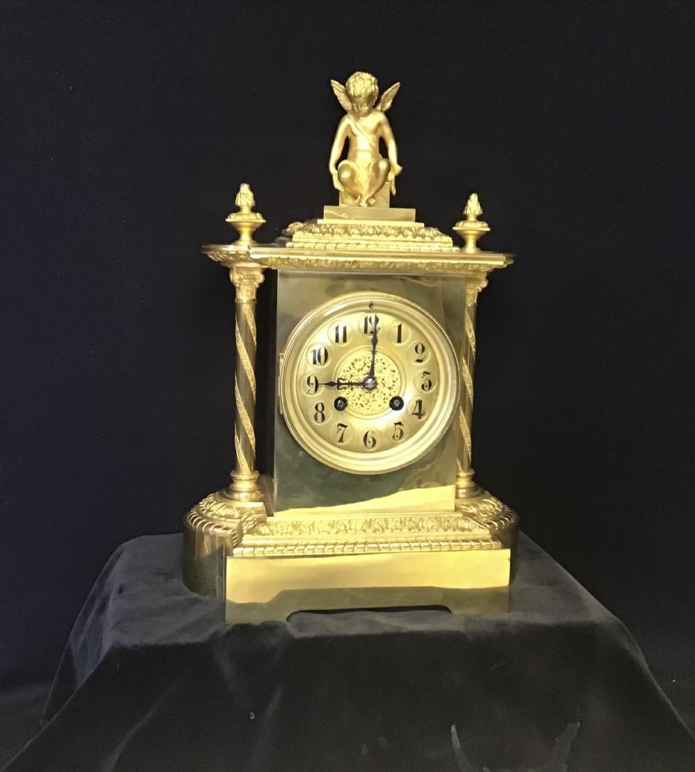 clock mantle french brass ormolu