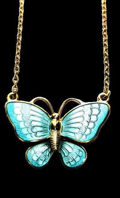 volmer bahner danish enamel silver gilt butterfly pendant