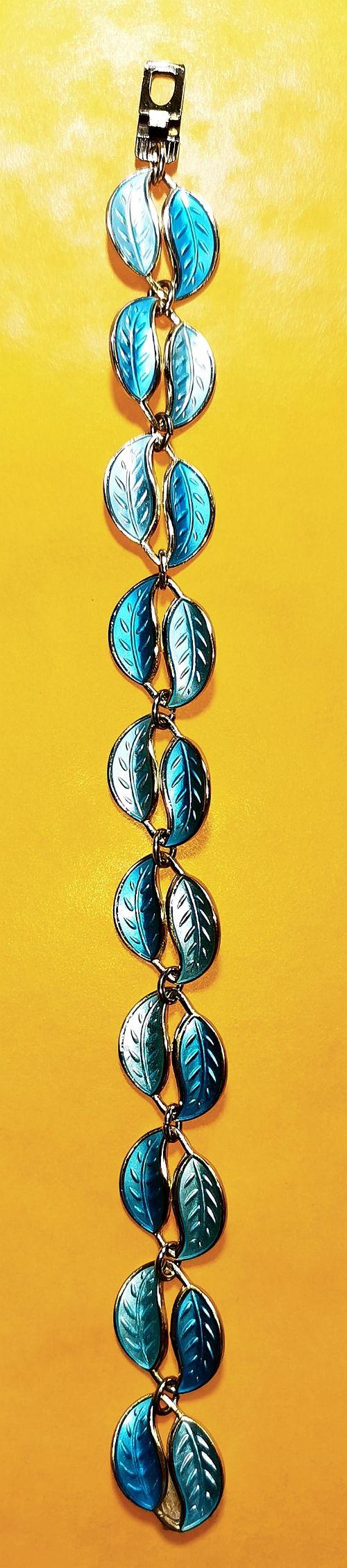 david andersen two tone enamel silver gilt bracelet