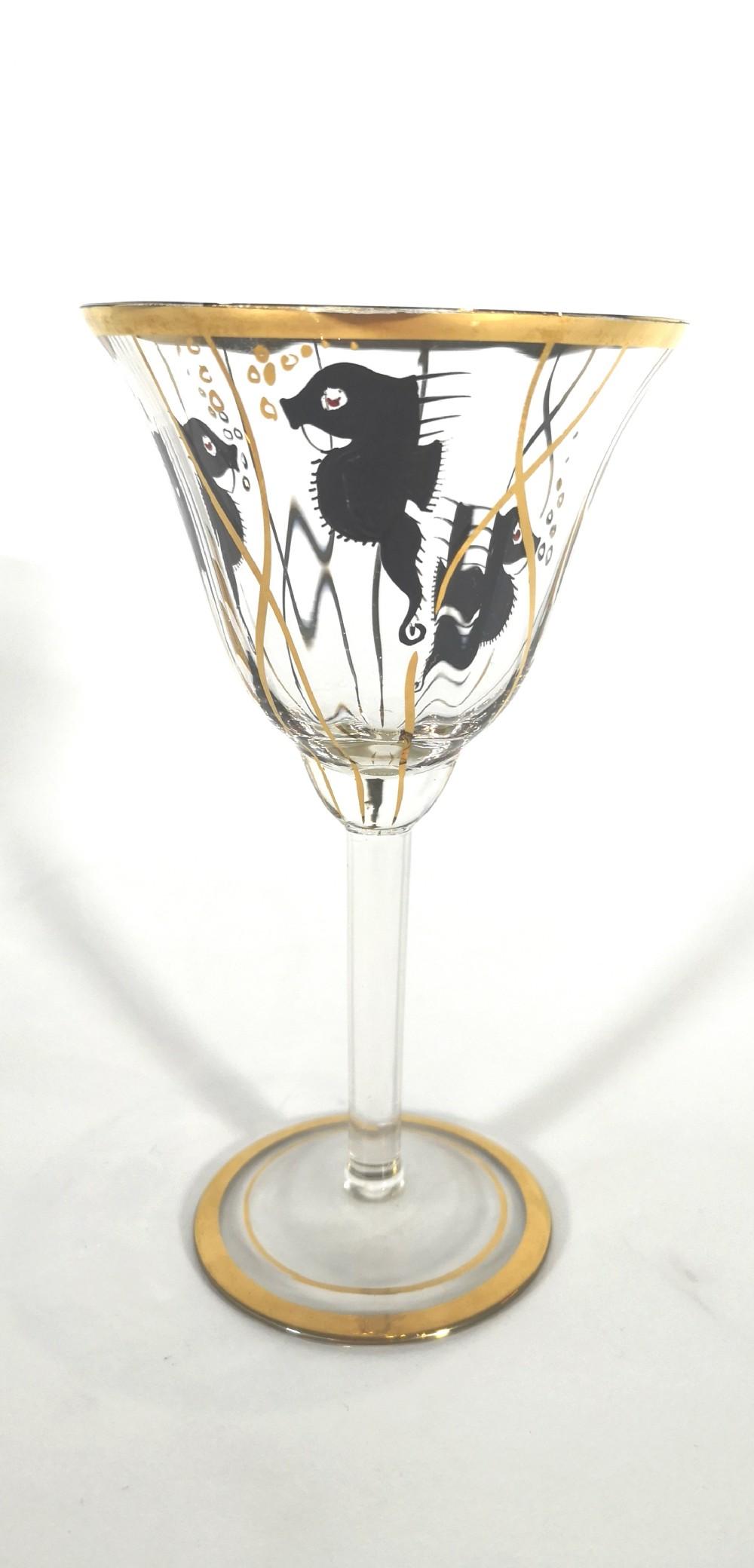art deco liqueur glass