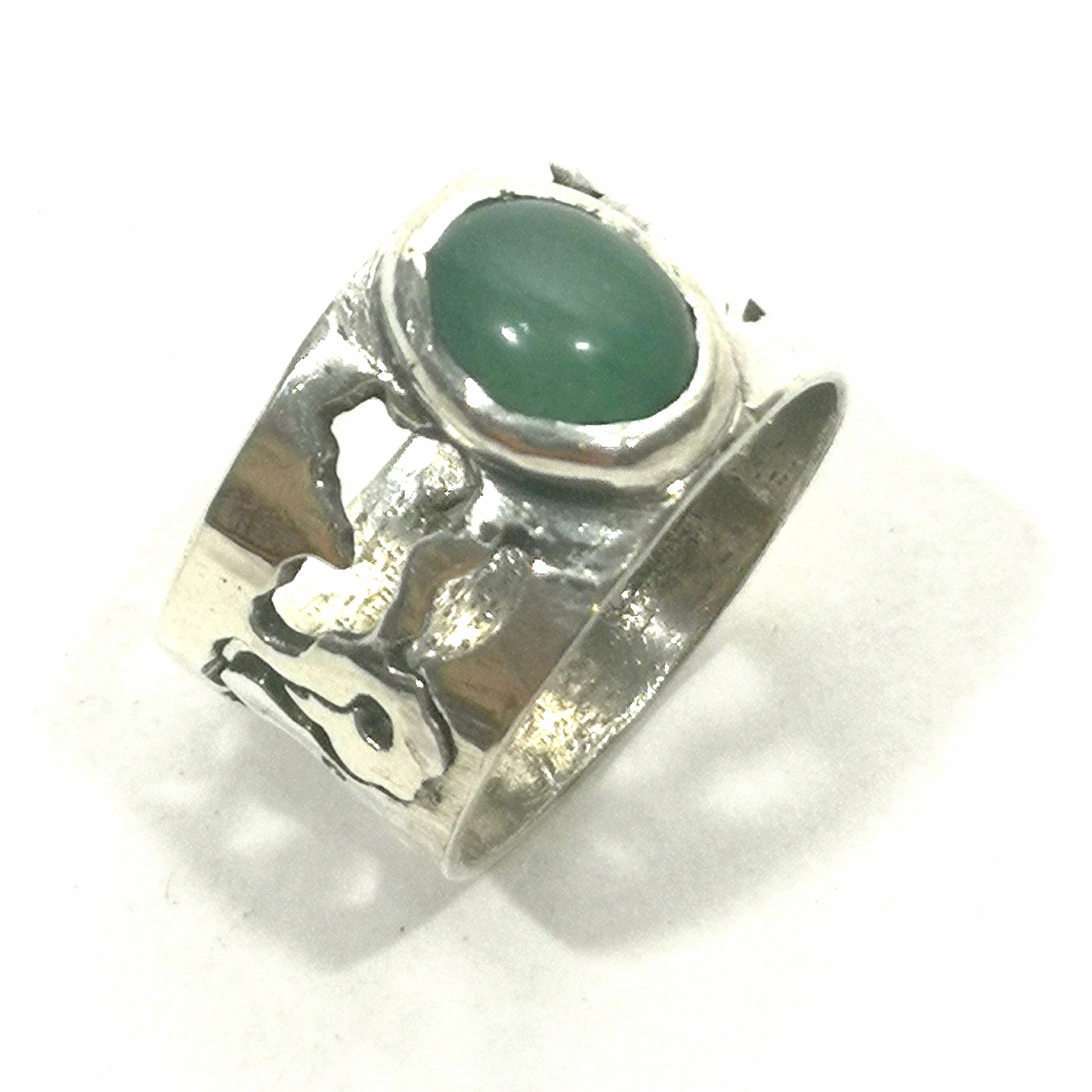 modernist sterling silver band ring