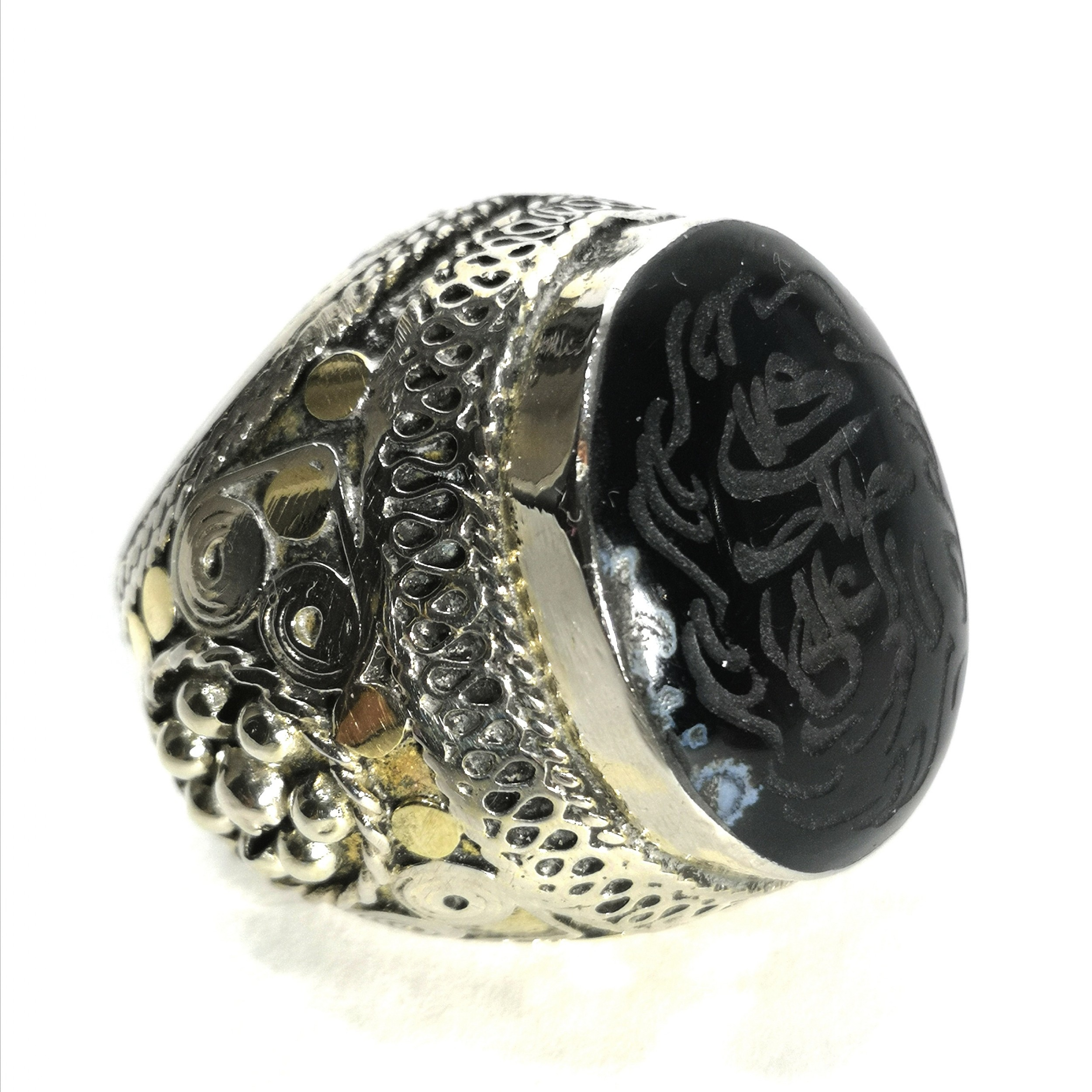 huge middle eastern 800 silver seal ring