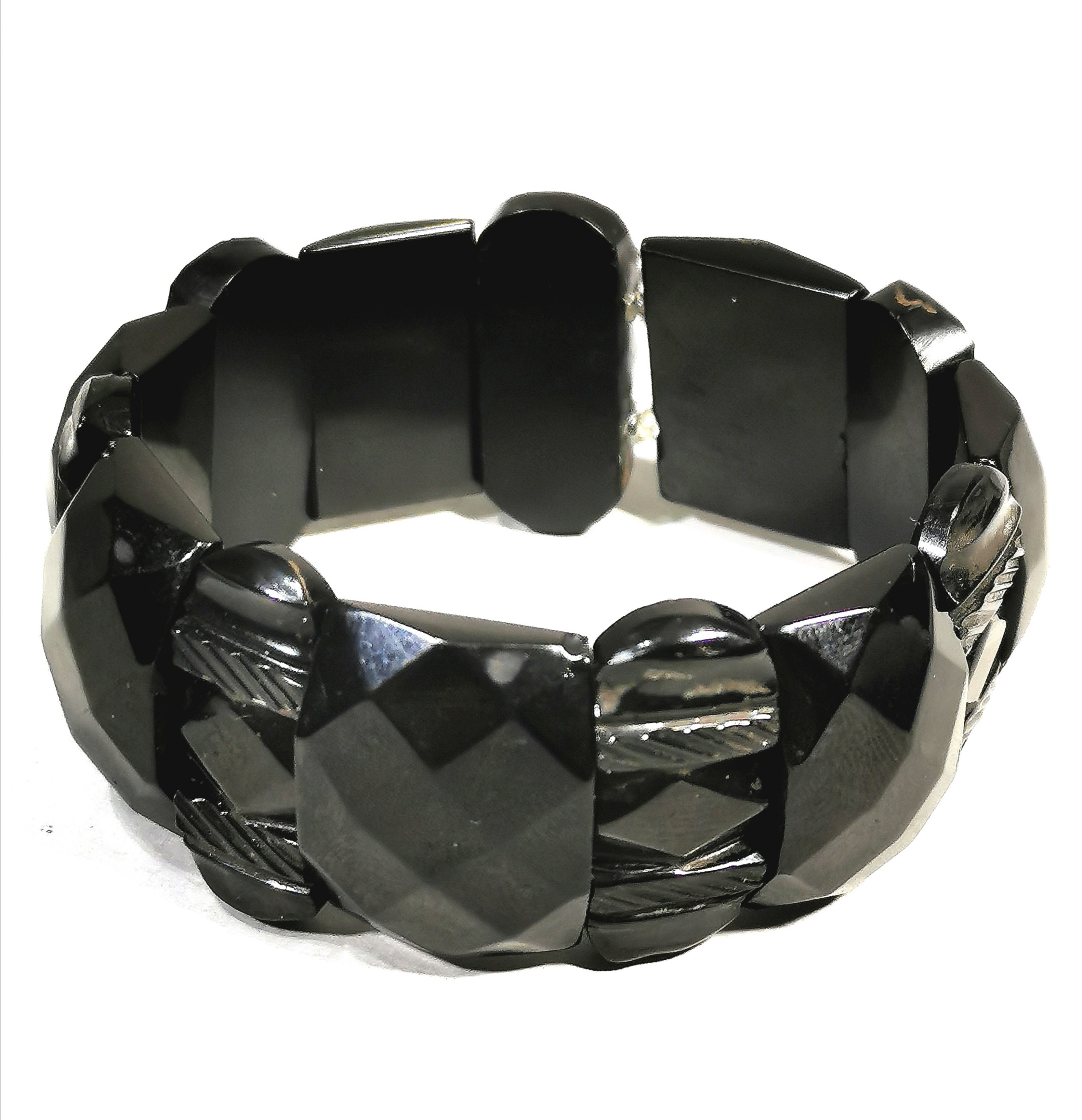victorian gothic revival whitby jet expanding bracelet