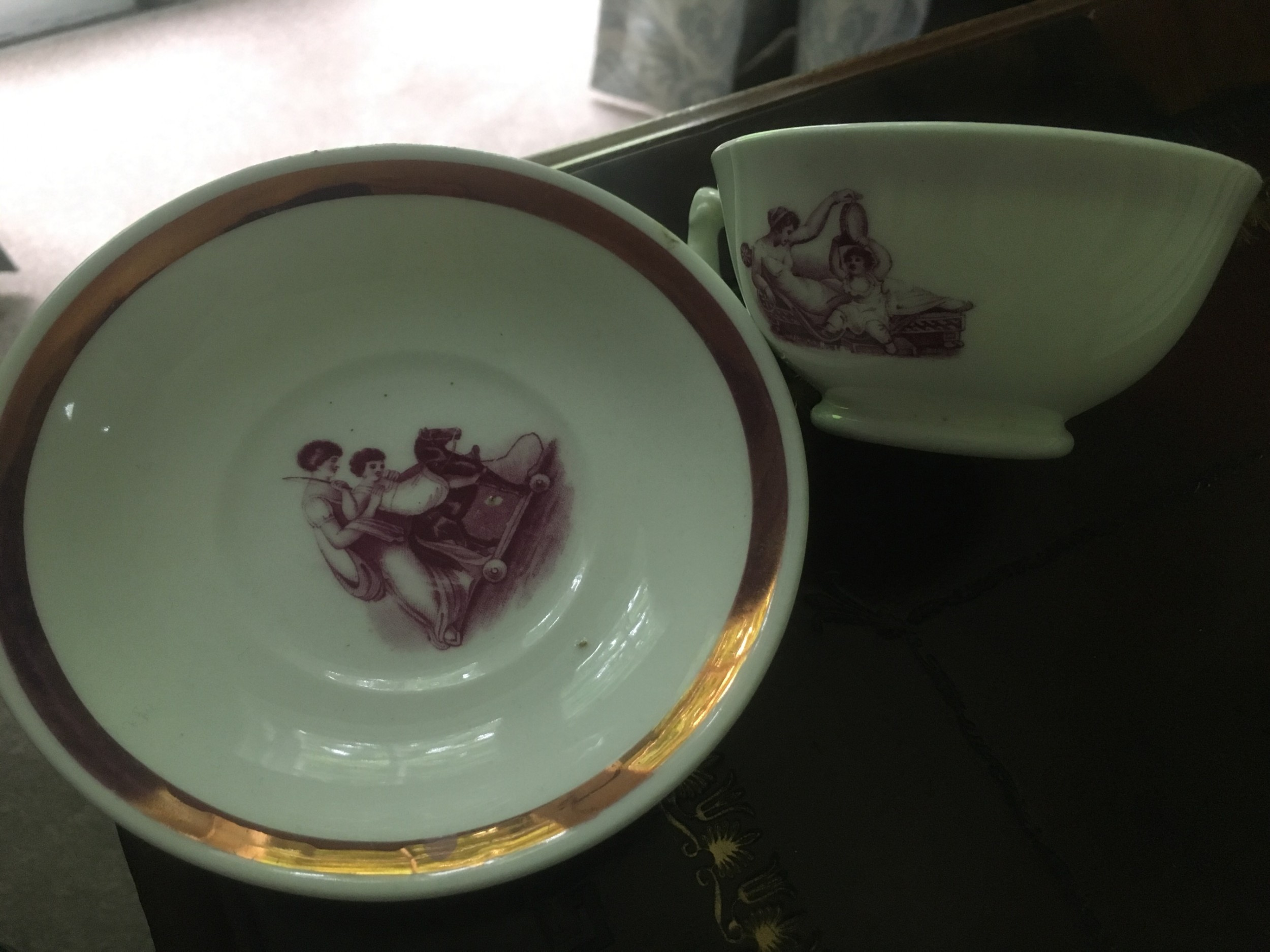 sunderland lustre ware cup and saucer