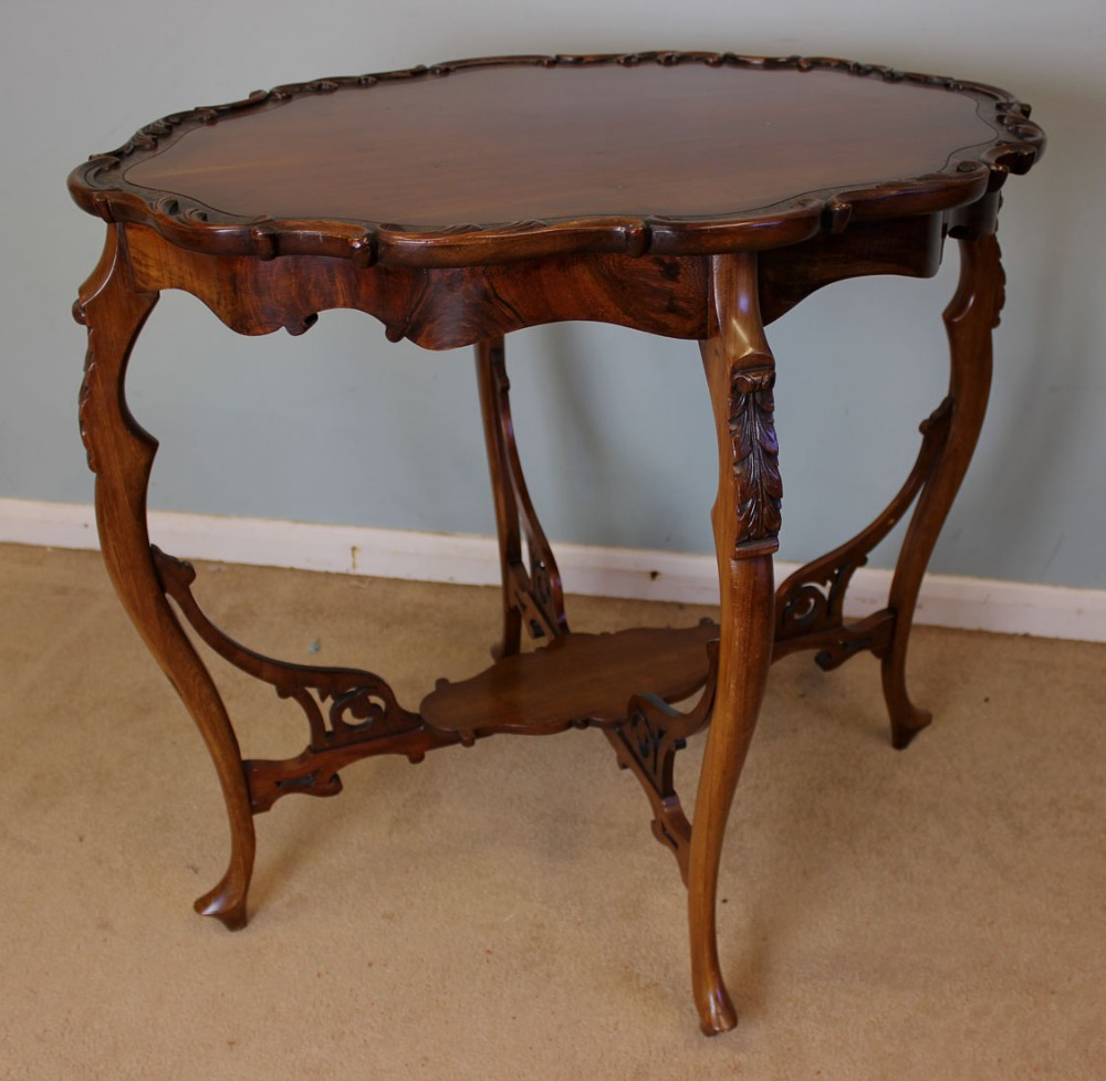 Antique mahogany occasional table centre lamp table for Occasional tables