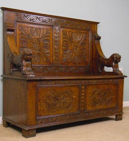Dealerships Open On Sunday >> Antique 20th Century Oak Hall Settle / Seat / Monks Bench | 170683 | Sellingantiques.co.uk