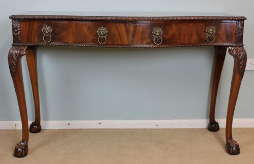 Antique Chippendale Style Server Side Table