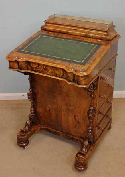 antique victorian walnut davenport desk - Antique Victorian Walnut Davenport Desk, 254508 Sellingantiques