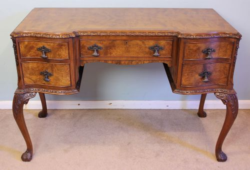 antique walnut side table writing desk - Antique Walnut Side Table, Writing Desk, 269758 Sellingantiques