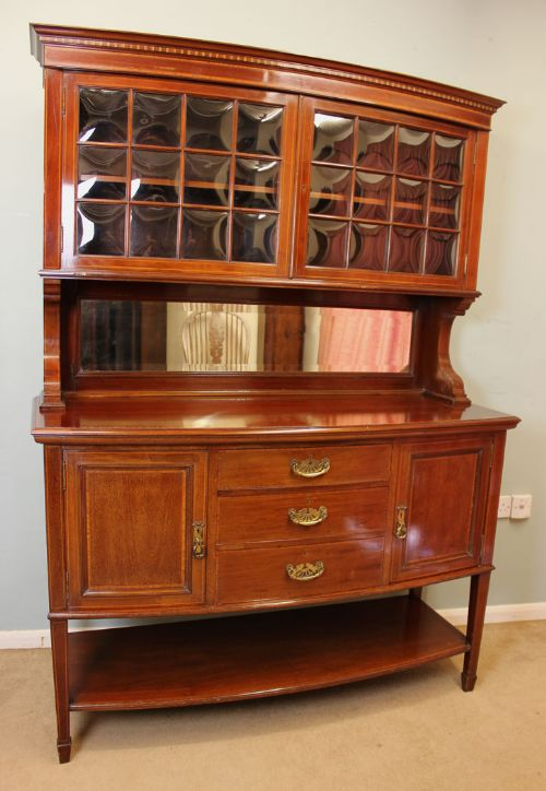 antique mahogany inlaid sideboard