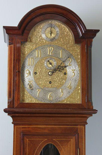 edwardian mahogany longcase grandfather clock