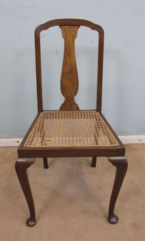 antique cane walnut bedroom chair