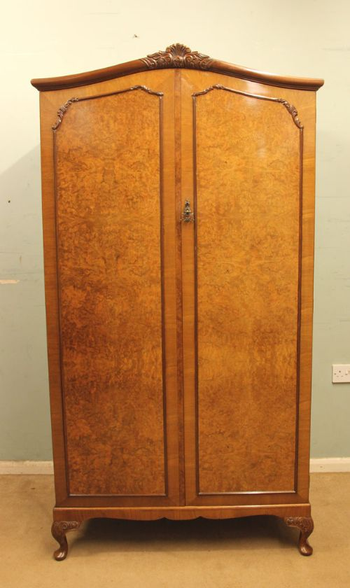 Quality In Victorian Painted 2 Door Wardrobe With Key Excellent