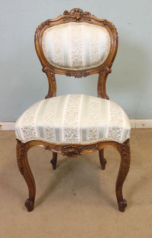 antique walnut balloon back single side chair