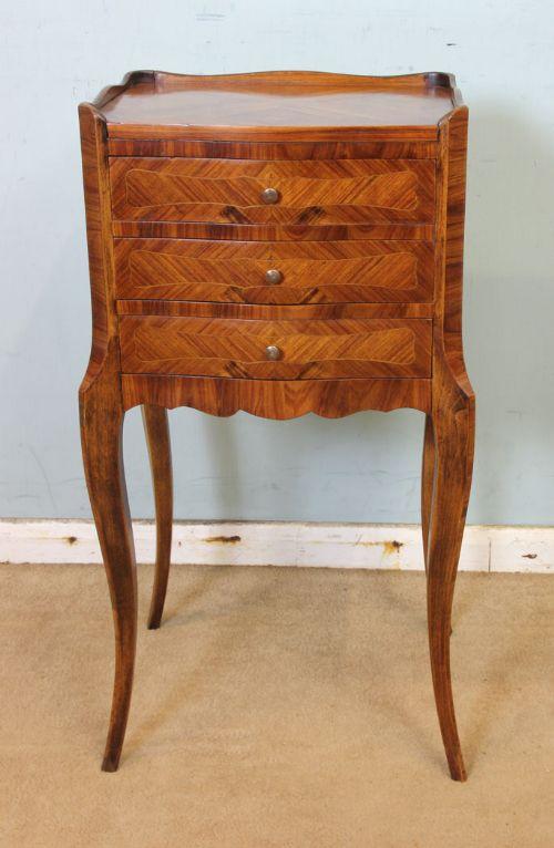 antique kingwood side table bedside table