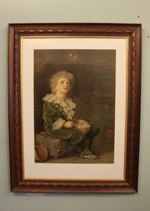 a large antique bubbles framed print