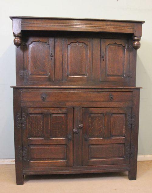 antique carved oak court cupboard