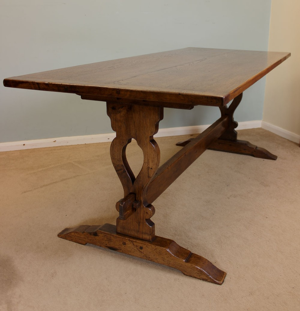 antique oak refectory dining table 254541 Farmhouse Furniture Farmhouse Kitchen Islands