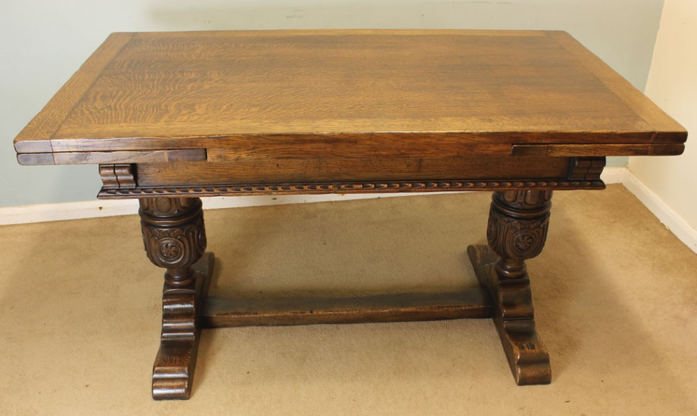 Oak Refectory Draw Leaf Dining Table