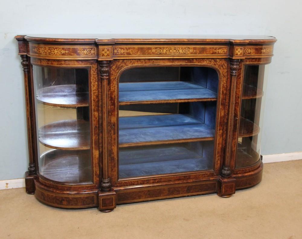 victorian thuya wood credenza sideboard display cabinet