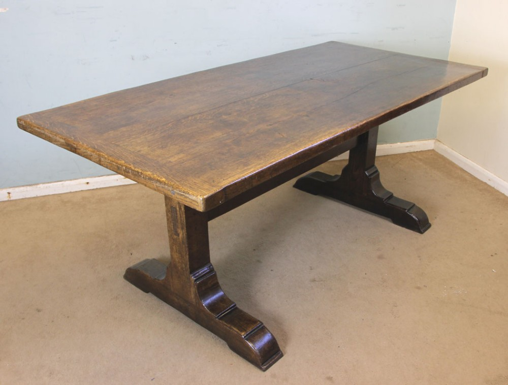 antique oak refectory farmhouse kitchen dining table