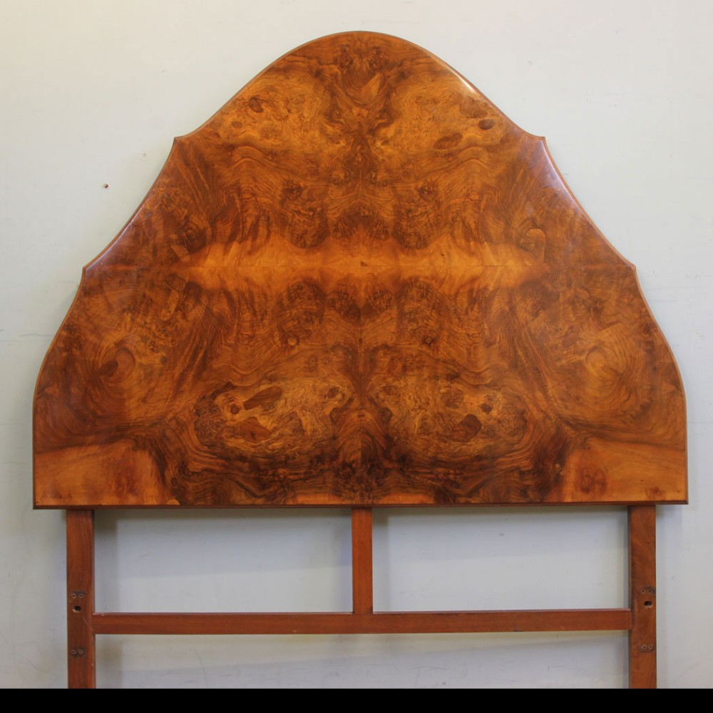 burr walnut king size shaped headboard