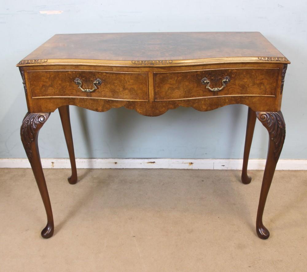 burr walnut queen anne style side table