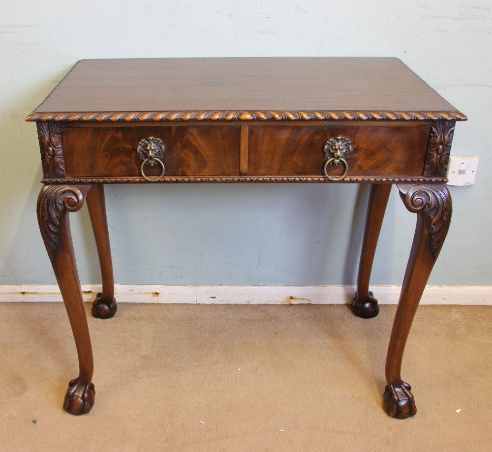 antique quality mahogany side tablelamp hall writing table