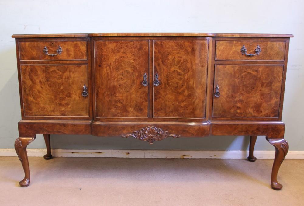 quality antique burr walnut sideboard