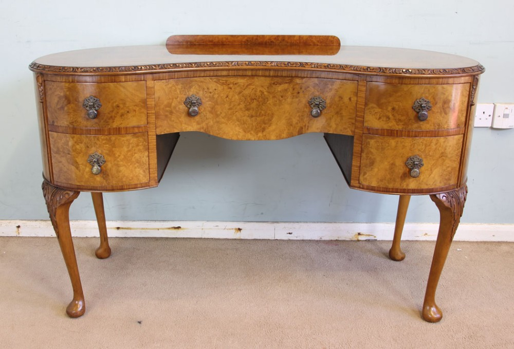 burr walnut dressing table