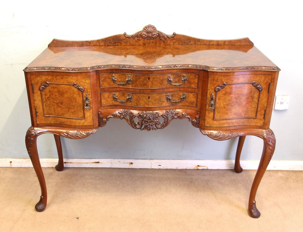 antique quality burr walnut side table small sideboard