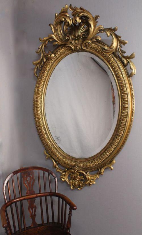 impressive giltwood overmantel mirror