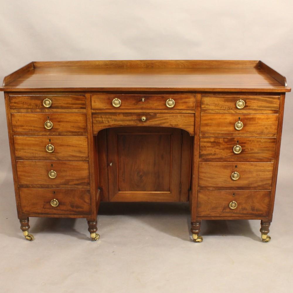 early nineteenth century mahogany kneehole desk