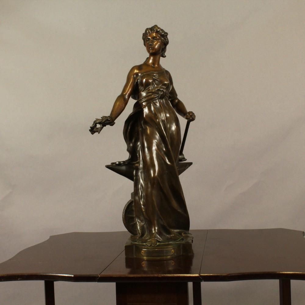 impressive french bronze figure