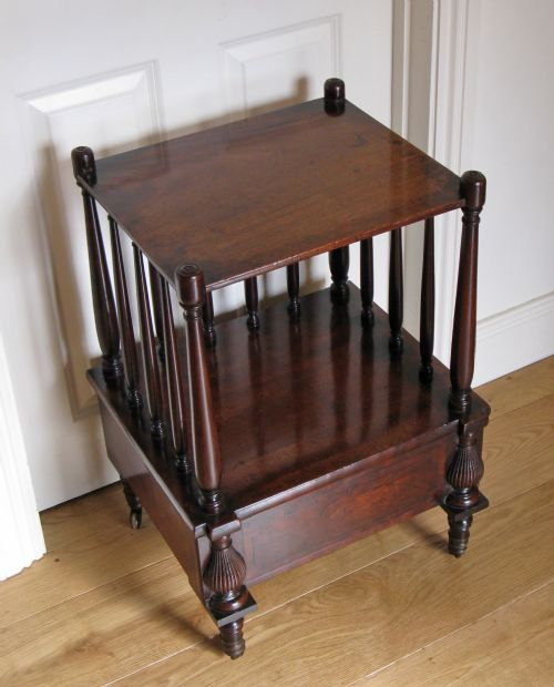 early 19th century mahogany 2 tier side or lamp table with single drawer