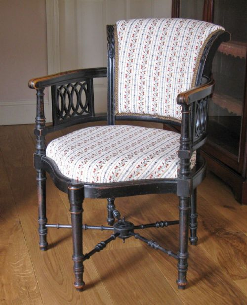 victorian aesthetic style ebonised child's corner chair by george maddox
