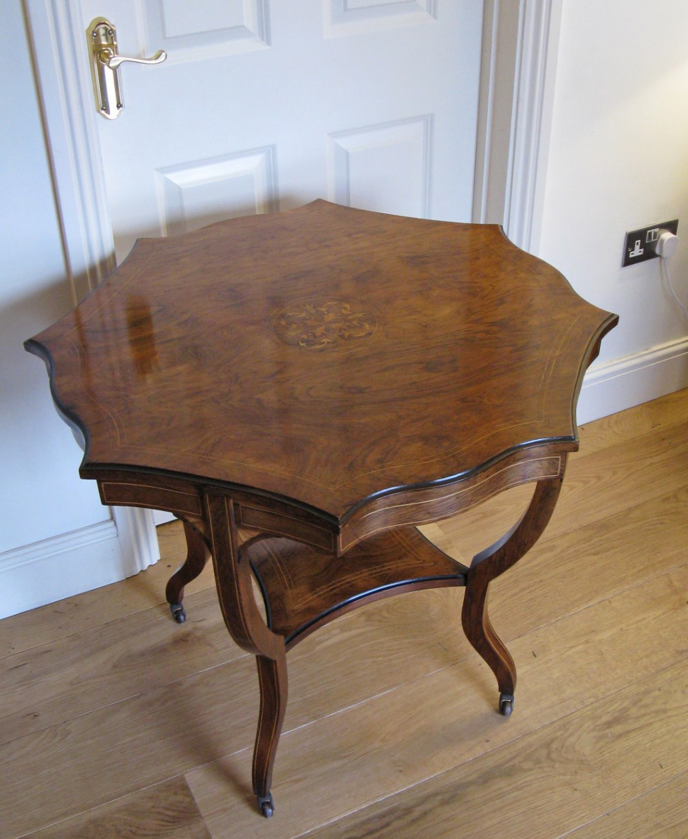 edwardian sheraton revival rosewood marquetry inlaid centre table