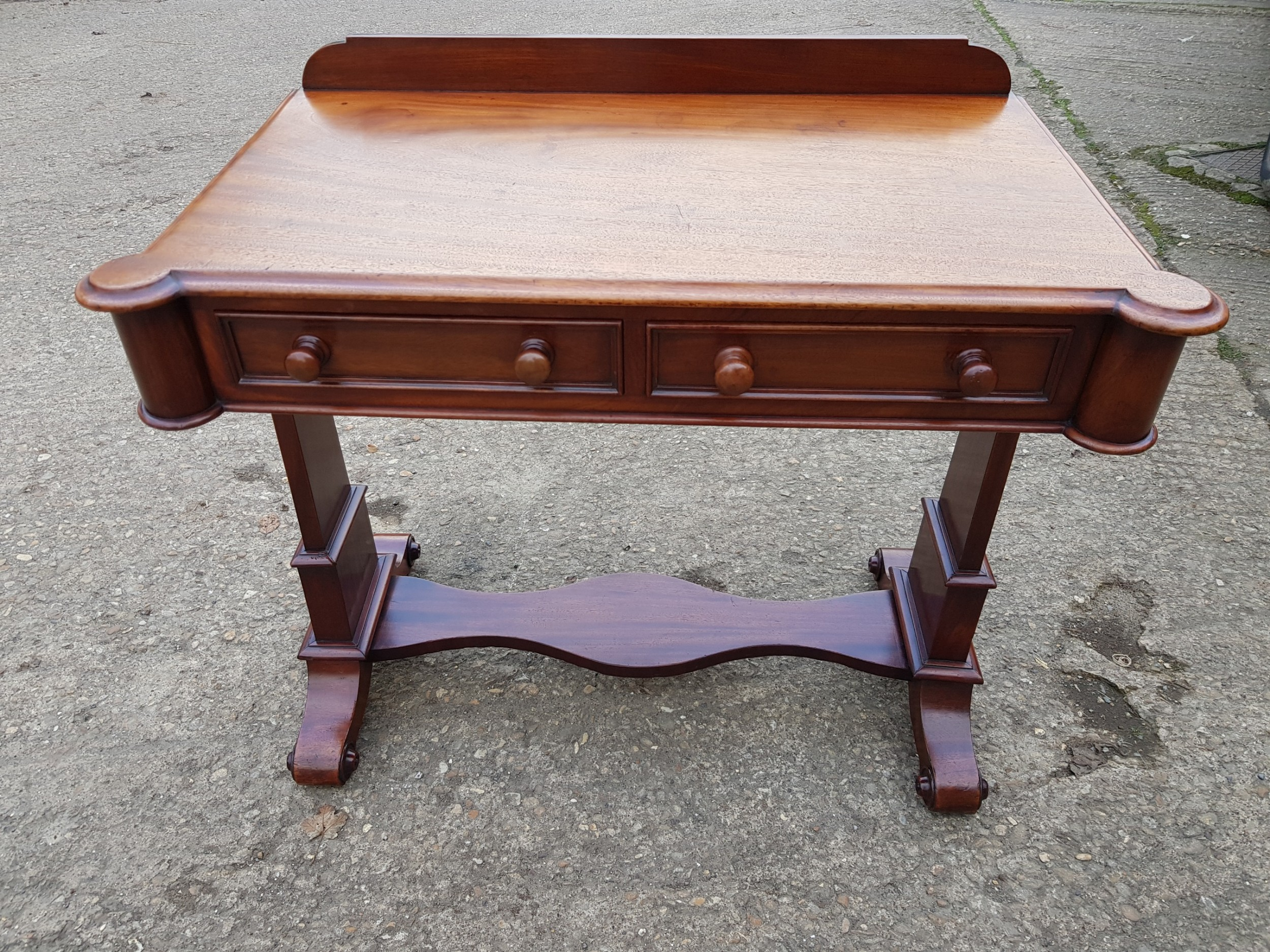 a victorian mahogany 2 drawer desk