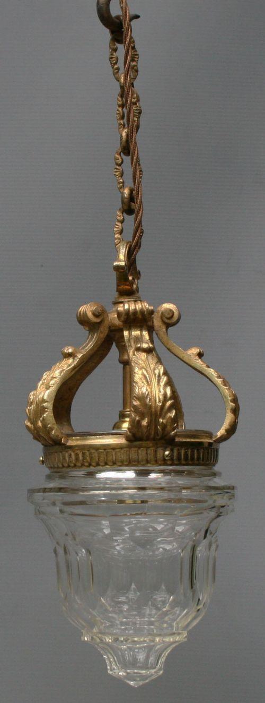 a cut glass and gilt brass lantern
