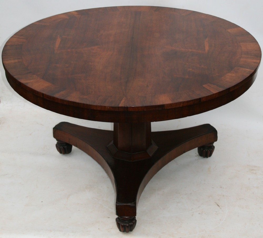 A george iv rosewood tilttop dining table 48 inches diameter 327685 - Inch diameter dining table ...