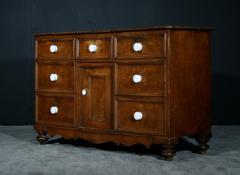 english pine dresser base in original paint