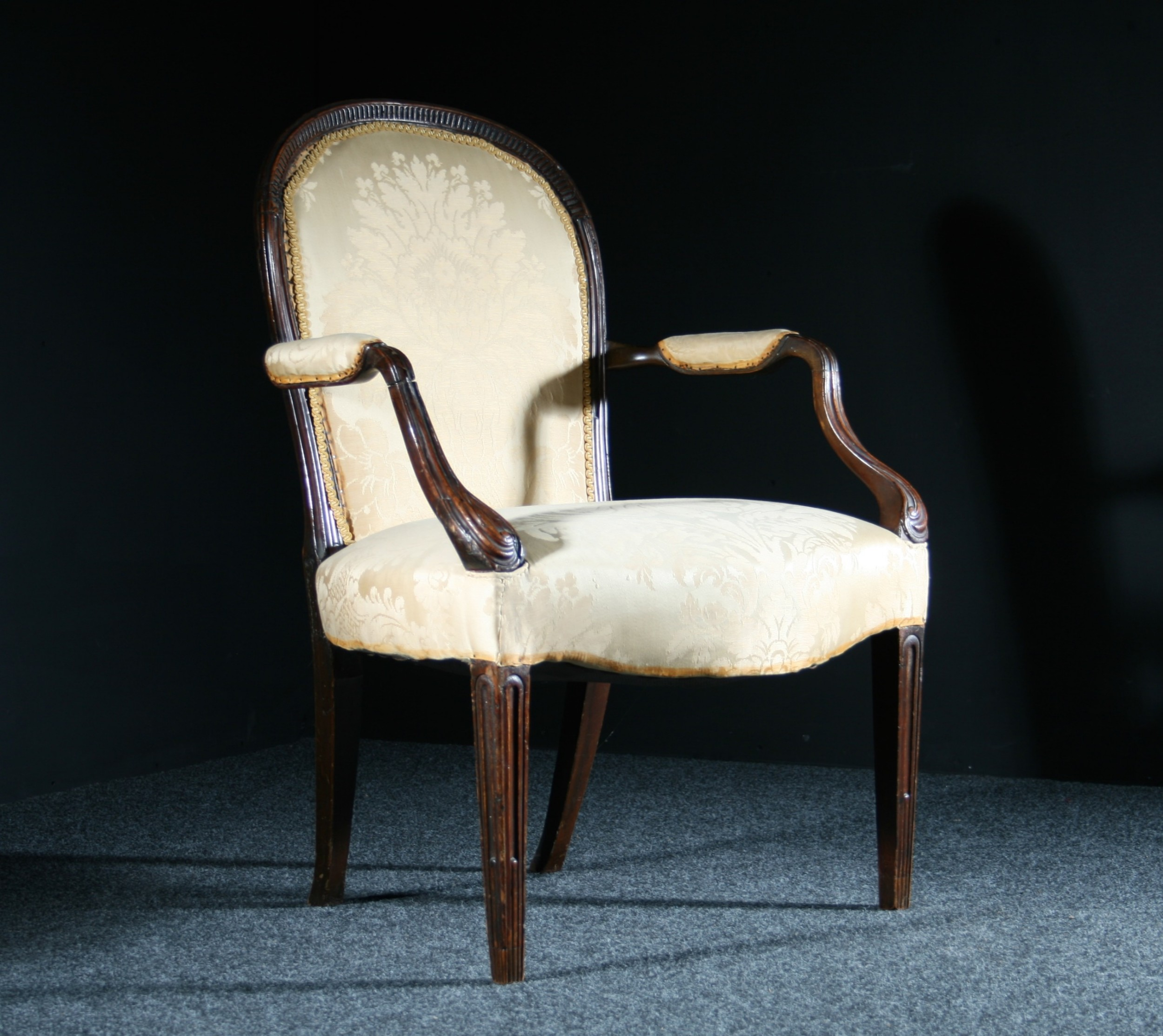georgian armchair in mahogany from the 18th century