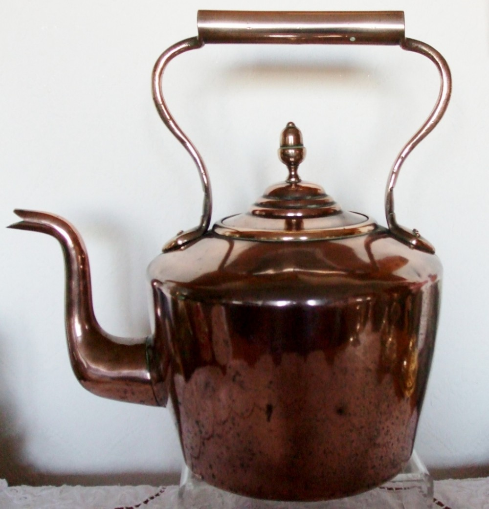Antique English Victorian Copper Kettle | 256503